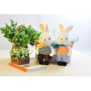 新品精品小兔子毛绒玩具7寸抓机娃娃公仔电玩城玩具厂家直销
