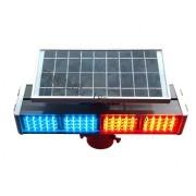 乌兰察布太阳能警示灯 太阳能爆闪灯 太阳能四灯警示灯报价